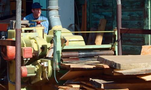 Processo di lavorazione legno